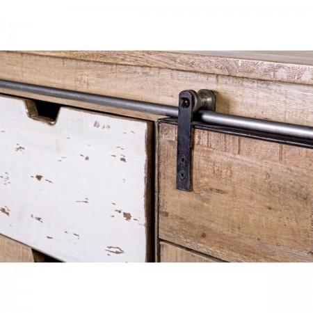 Credenza Industrial Tudor 2 Ante 3 cassetti