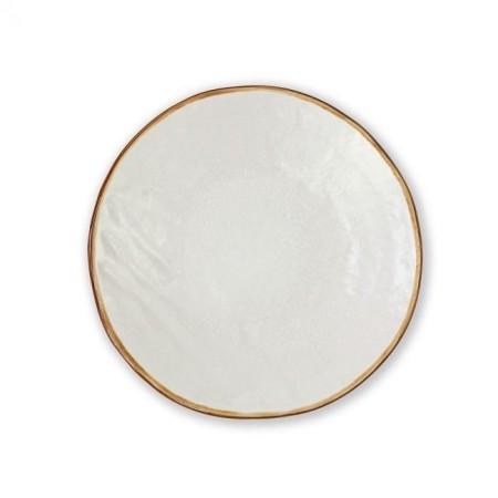 Piatto Dessert Bianco Mediterraneo