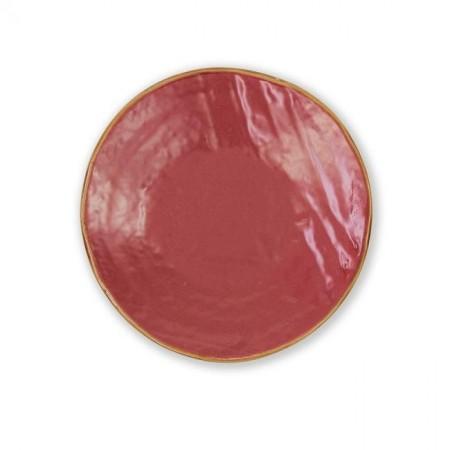 Piatto Dessert Rosso Mediterraneo