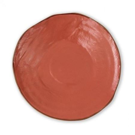 Piatto Piano Arancio Mediterraneo