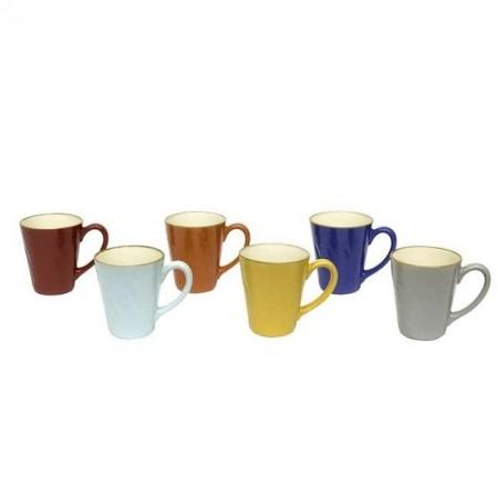 Set 6 Tazze Mug Colorate Mediterraneo