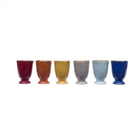 Set Bicchieri Colorati Mediterraneo