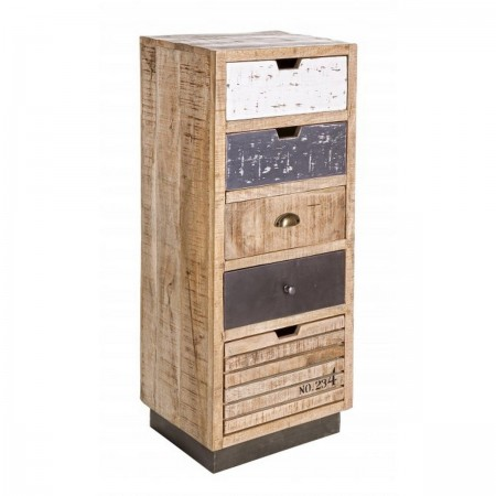 Cassettiera in legno Tudor