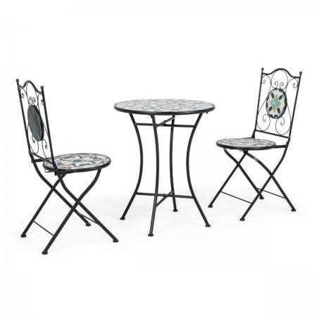 Set tavolo +2 Sedie pieghevoli Positano